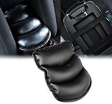 Universal Car  Leather Armrest Storage Console Box Top Mat Pad Cover Cushion New