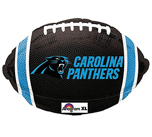 18 Inch NFL Carolina Panthers Football Jr Shape Balloon