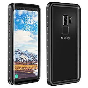 Eonfine Samsung Galaxy S9 Plus Waterproof Case, Shockproof Protective Underwater Cover for Samsung Galaxy S9 Plus Black