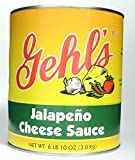 Gehl's Jalapeno Cheese Sauce in a can, 6 lb 10 oz., 6 per case