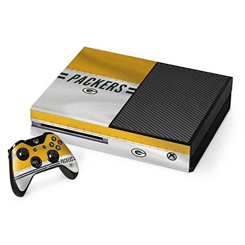 Green Bay Packers Xbox One Console and Controller Bundle Skin - Green Bay Packers White Striped | NFL X Skinit Skin