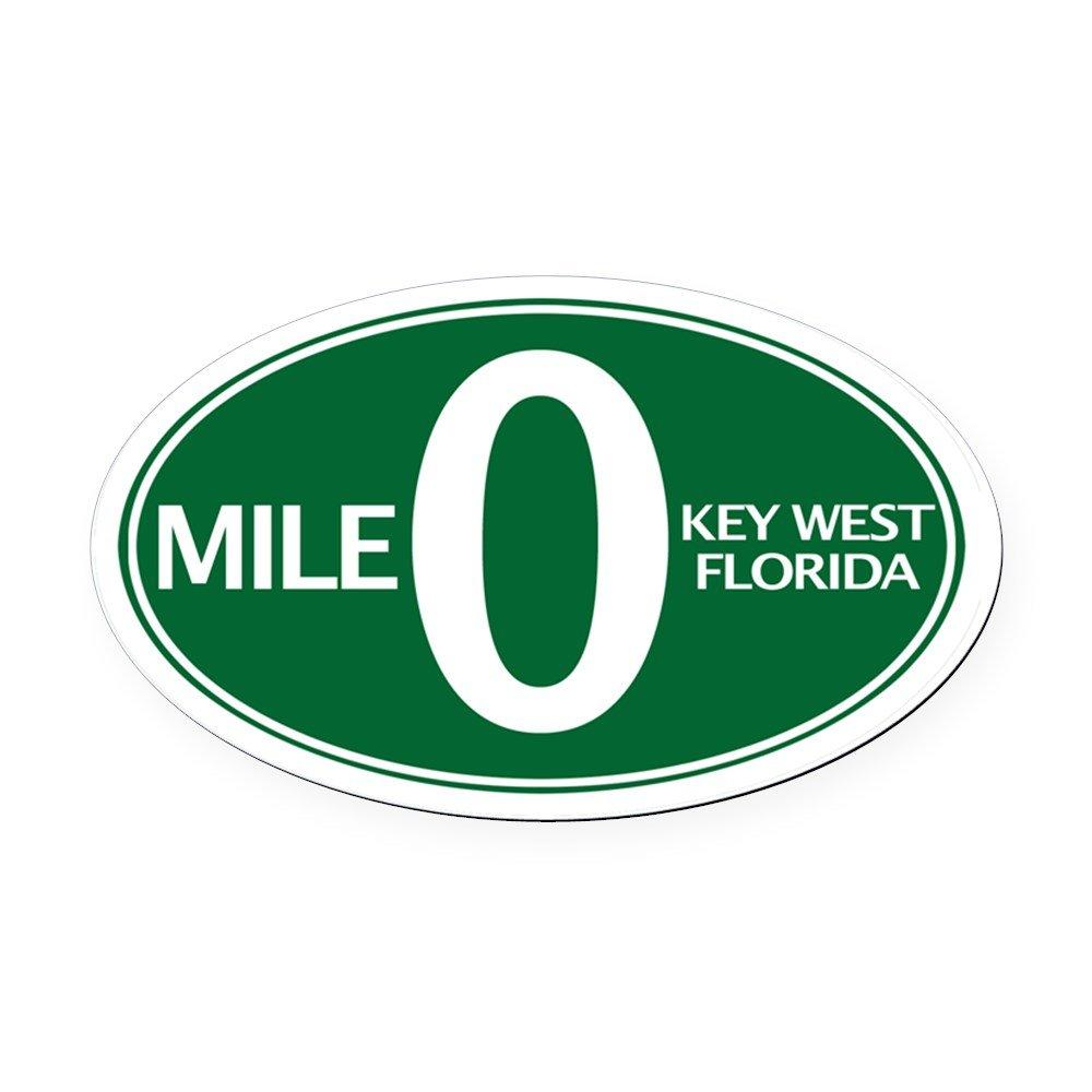 Amazon com cafepress mile 0 mile zero key west fl oval car magne oval car magnet euro oval magnetic bumper sticker automotive