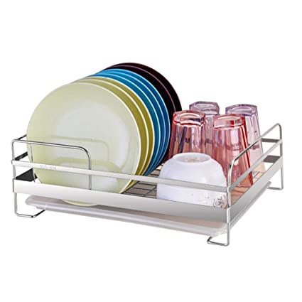 Escurridor de platos de acero inoxidable Soporte de bastidor Soporte de  platos Estante de vajilla Vajilla 21f6049c1d61