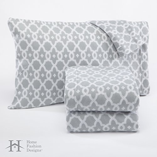 Dara-Collection-Super-Soft-Extra-Plush-Polar-Fleece-Sheet-Set-Cozy-Warm-Durable-Smooth-Breathable-Winter-Sheets-with-Printed-Pattern-By-Home-Fashion-Designs-Brand