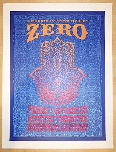 2013 Zero - Petaluma Silkscreen Concert Poster by Dave - Petaluma Stores