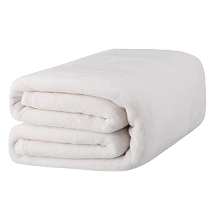 2b62c7590f LANGRIA Soft Fluffy Flannel Blanket Throw for Sofa Bed Winter Travel ...