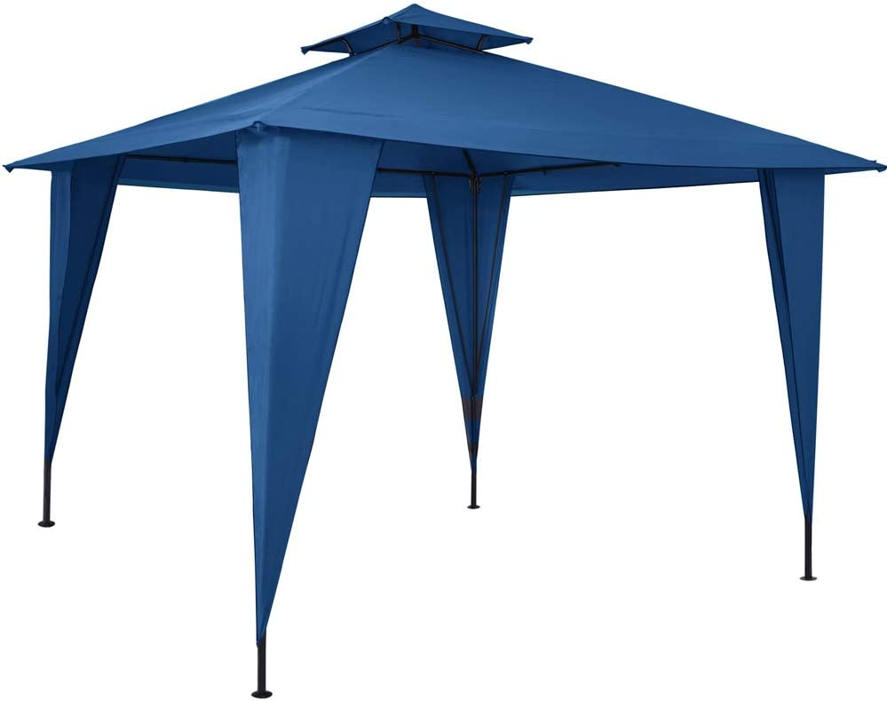Deuba Pabellón de Jardín cenador Sairee Azul 3,5x3,5m Carpa para Playa Patio Impermeable para Eventos Fiestas Camping