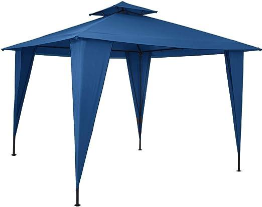 Deuba Pabellón de Jardín cenador Sairee Azul 3, 5x3, 5m Carpa para Playa Patio Impermeable para Eventos Fiestas Camping: Amazon.es: Jardín