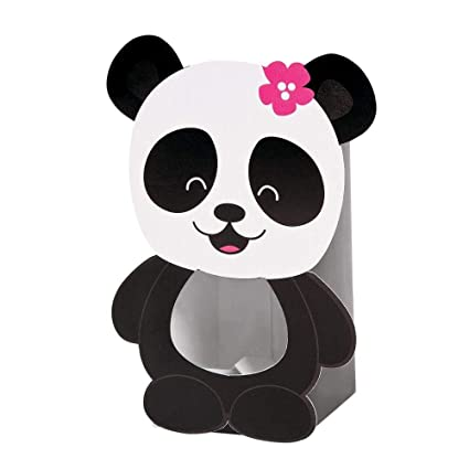 Cardboard Panda Party Treat Boxes - 12 ct