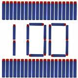 100 bullets 10 - Nerf Darts Soft Foam Nerf Bullets 100 PCS Refill Pack for Nerf N-Strike Elite Series Blasters Toy Gun - Blue with Storage Bag