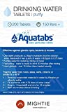 200 Pack - World's #1 Water Purification Tablets - Aquatabs