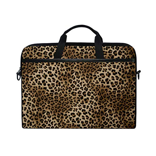(TropicalLife Laptop Bag Animal Leopard Tiger Print Lightweight Briefcase Shoulder Messenger Bag Laptop Case Sleeve for 11.6-15 inch MacBook Pro, MacBook Air Laptop and Tablet)