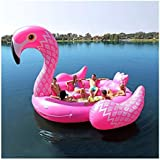 Giant Inflatable Flamingo Float Inflatable Float Island Water Toys Pool Fun (Flamingo)