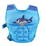Kids Swim Vests Adjustable Floatation Devices - Learn-to-Swim Life Jacket Animal Patten/Blue