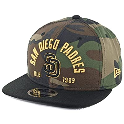 "New Era 9Fifty San Diego Padres ""Establisher"" Snapback Hat (Camo/Black) MLB Cap"