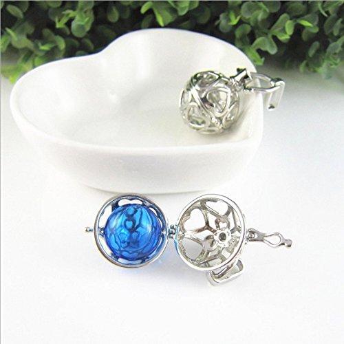 usongs Box open hollow alloy love necklace pendant ornaments aroma oil sachet bracelet jewelry accessories DIY - Ornament Sachet