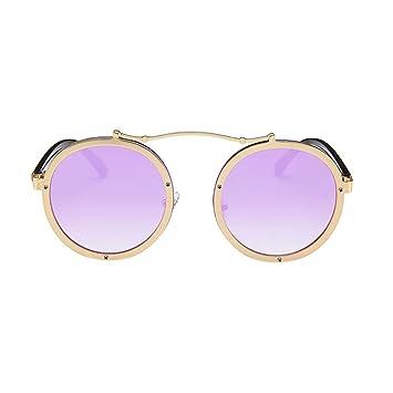 1b37d12fd423 Tucsom Non-Prescription Round Circle Frame Clear Lens Glasses for Women Men  Retro Vintage Steampunk
