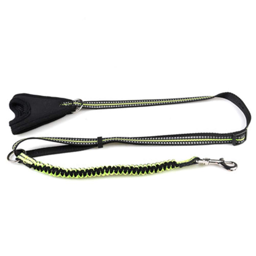 GREEN L GREEN L HATHOR-23 Pet Leash Rope Pet Supplies Reflective Comfort Hand Retractable Pull Dog Collar Collar Leash Stretchable Dogpet Leash (color   Green, Size   L)
