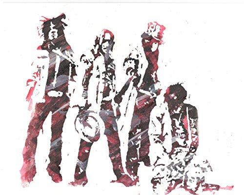 HAND DRAWN Artist Watercolor Original 8