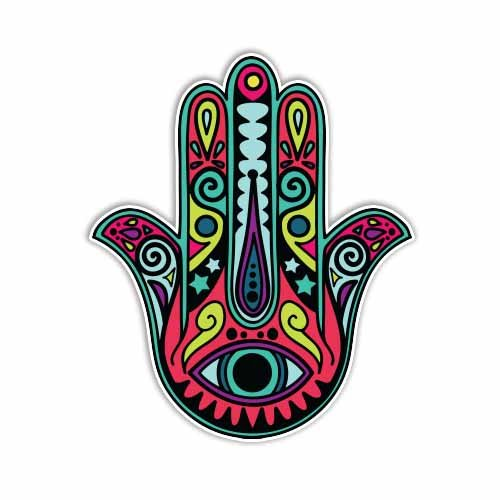 Amazon Hamsa Hand Sticker Colorful Decal By Megan J Designs