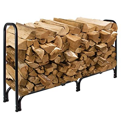 Best Choice Products® 8' Firewood Log Rack Large Wood Storage Holder With Cover Heavy Duty Metal Rack