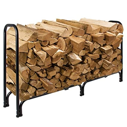 Best Choice Products 8u0027 Firewood Log Rack Large Wood Storage Holder With  Cover Heavy Duty
