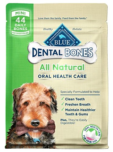 Blue Buffalo Dental Bones Mini (Pack of 2- 12 oz bags - PACKAGING MAY VARY) ()