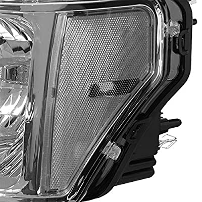 DNA Motoring HL-OH-F1509-CH-CL1 Chrome Housing Clear Corner Front Driving Headlight/Headlamps: Automotive