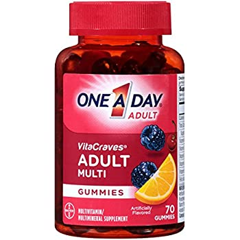 One A Day VitaCraves Adult Multivitamin Gummies, 70 Count
