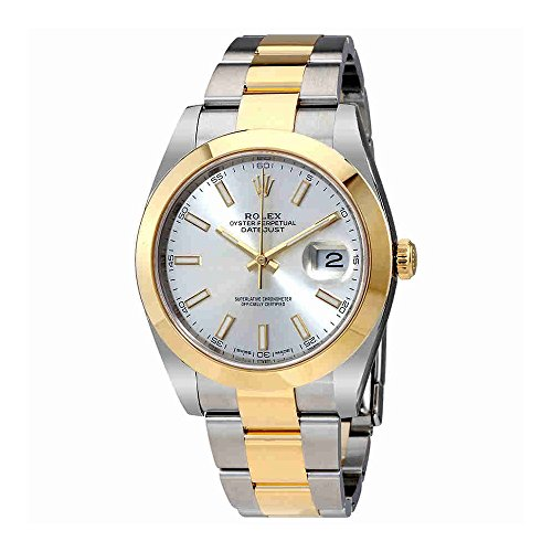 Rolex-Datejust-41-Silver-Dial-Steel-and-18K-Yellow-Gold-Rolex-Oyster-Mens-Watch-126303SSO