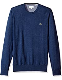 Men's Crewneck Cotton Jersey Sweater with Green Croc