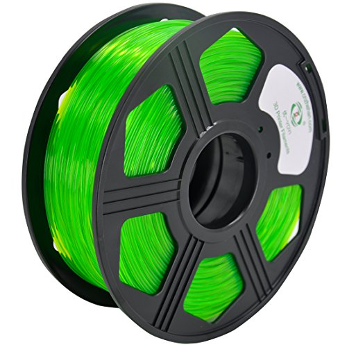 50 Mm Capacity Green - YOYI PETG 3D Printer Filament 1.75mm, Diameter Tolerance +/- 0.03 mm, 1 KG Spool, 1.75 mm PETG filament for 3D printer (Green)
