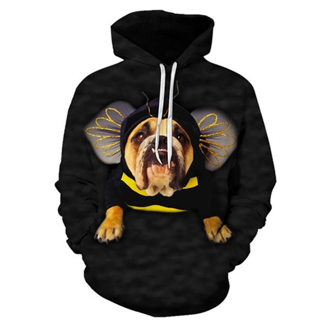 Yin and Yang Wolf Byanimal Print Sweatshirt Mens Hoodies 3D Tracksuit Sweatshirt Men Hoody Black Coat Pullover