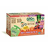 GoGo SqueeZ Organic Fruit and Vegetable Sauce Pouches, 16 pk./3.2 oz. (pack of 6)