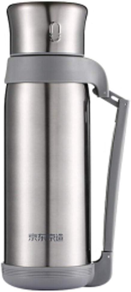 CN 断熱ポット304ステンレス鋼の真空旅行鍋魔法瓶ポータブルホームアウトドア断熱コールドポット1.5L (Color : Silver)