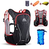 TRIWONDER Hydration Pack Backpack 5L Lightweight Deluxe Marathoner Running Race Hydration Vest (Black & Red – with 2L TPU Water Bladder, L/XL – 38.6-42.5in) Review