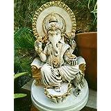 Estátua Ganesha Yoga Buda Meditação Decoração + Incenso