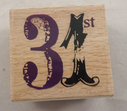 Studio G October 31St Calendar Numbers Halloween Wooden Rubber Stamp