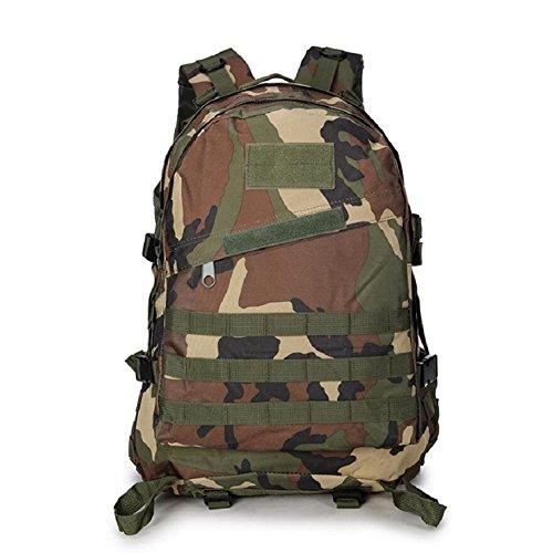 Z&N Backpack Mochila militar camping al aire libre alpinismo deportes hombros mochila de camuflaje mochila táctica militar hombres y mujeres de gran capacidad 40L portátil al aire librecp40L jungle