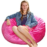 Ahh! Products Cuddle Minky Hot Pink Washable Large Bean Bag Chair