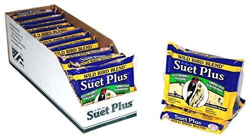 Suet Plus Wild Bird Blend Suet Cake, Case of 12 by Wildlife Sciences