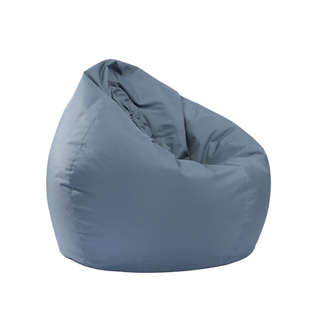 B Blesiya Bean Bag Cover Gaming Chair with Extra Long Zipper, Furniture Cover In/Outdoor Garden Gamer Beanbag Seat - Grey
