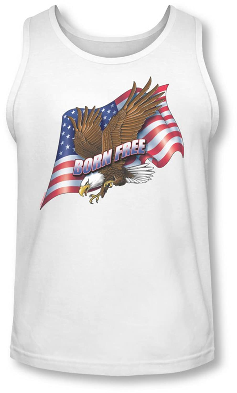 Born Free - Mens Tank-Top In White