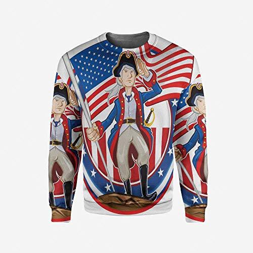 iPrint Men's Crewneck Farm House Decor Pullover Sweater by iPrint