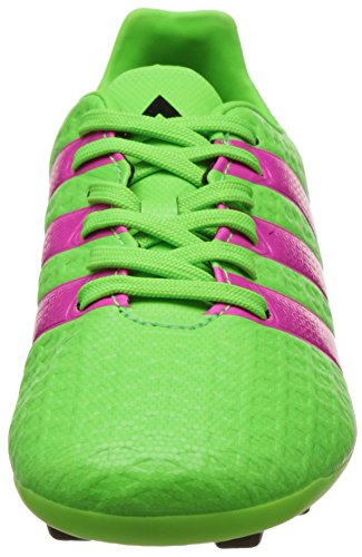 adidas Ace 16.4 FxG J, Botas de Fútbol Unisex Bebé Verde / Rosa / Negro (Versol / Rosimp / Negbas)