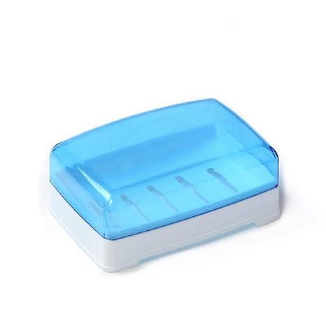 MEIBATH Vacíe el jabón de Viaje Azul con Tapa de plástico ...