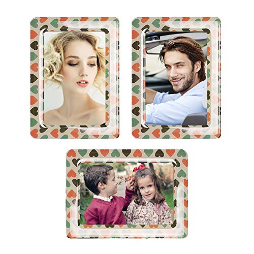 UCMD Magnetic Photo Frames 4 X 6 for Refrigerator,Wall, Cubicle, Photo Magnet Frames Fridge Magnets Set Pack of 5 (Heart) ()