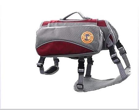 Ttyhch Pet Saddle Bag Impermeable Mochila para Perro Reflectante ...