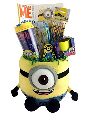 Deluxe Minion Gift Basket Box for Boys and Girls for Travel, Birthday, Get Well, Just Because