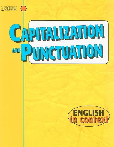 Capitalization and Punctuation: English in (Capitalization And Punctuation)